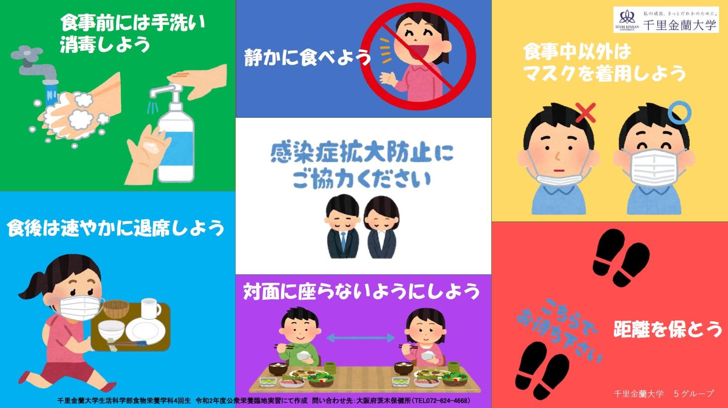 「新しい生活様式」に関するポスター