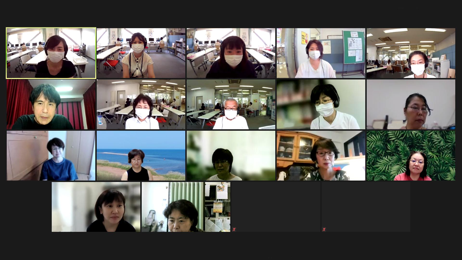 WEB会議で教育サポーターフォローアップ研修
